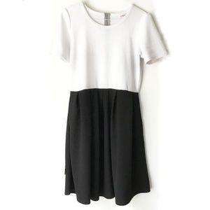 LuLaRoe Black and White Amelia Dress